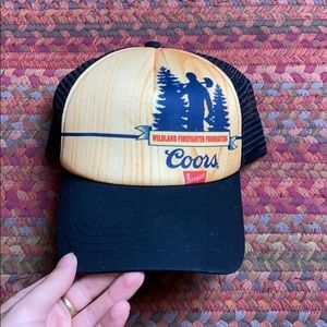 COORS BANQUET WILDLAND FIREFIGHTER TRUCKER HAT